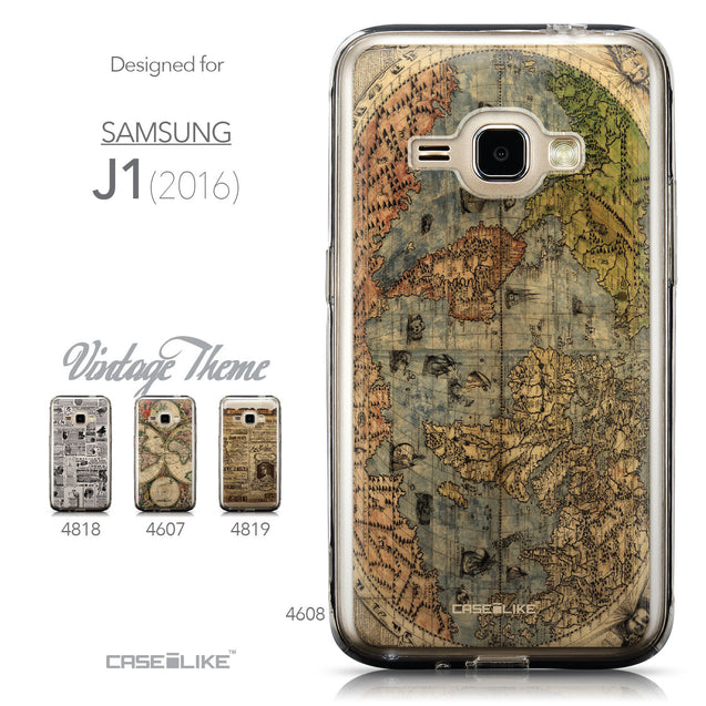Collection - CASEiLIKE Samsung Galaxy J1 (2016) back cover World Map Vintage 4608