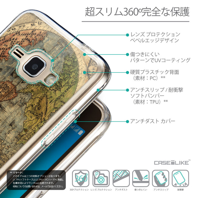Details in Japanese - CASEiLIKE Samsung Galaxy J1 (2016) back cover World Map Vintage 4608