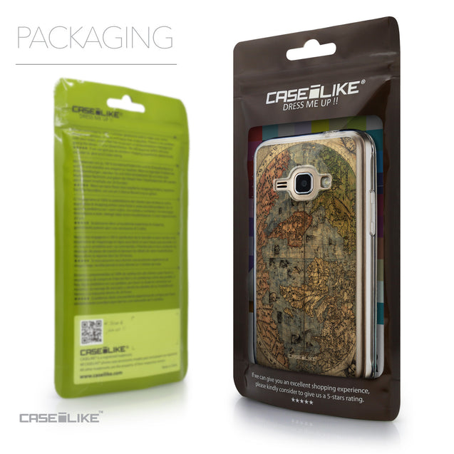 Packaging - CASEiLIKE Samsung Galaxy J1 (2016) back cover World Map Vintage 4608