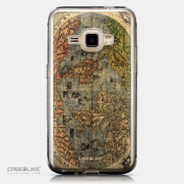 CASEiLIKE Samsung Galaxy J1 (2016) back cover World Map Vintage 4608