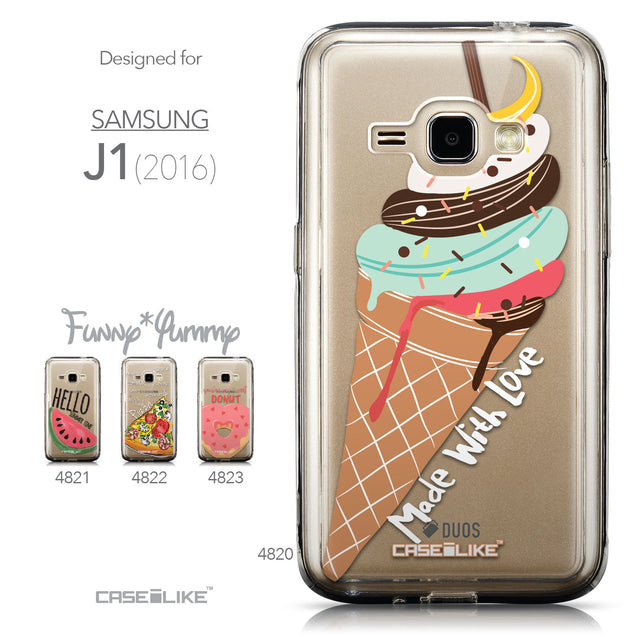 Collection - CASEiLIKE Samsung Galaxy J1 (2016) back cover Ice Cream 4820