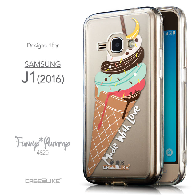 Front & Side View - CASEiLIKE Samsung Galaxy J1 (2016) back cover Ice Cream 4820