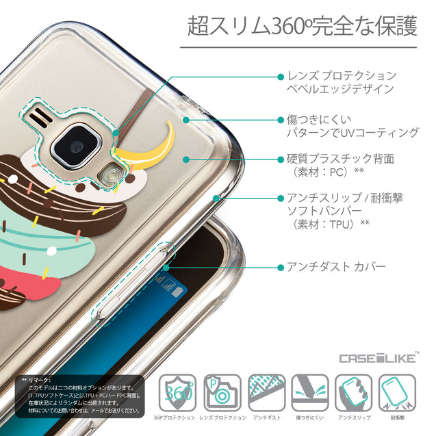 Details in Japanese - CASEiLIKE Samsung Galaxy J1 (2016) back cover Ice Cream 4820