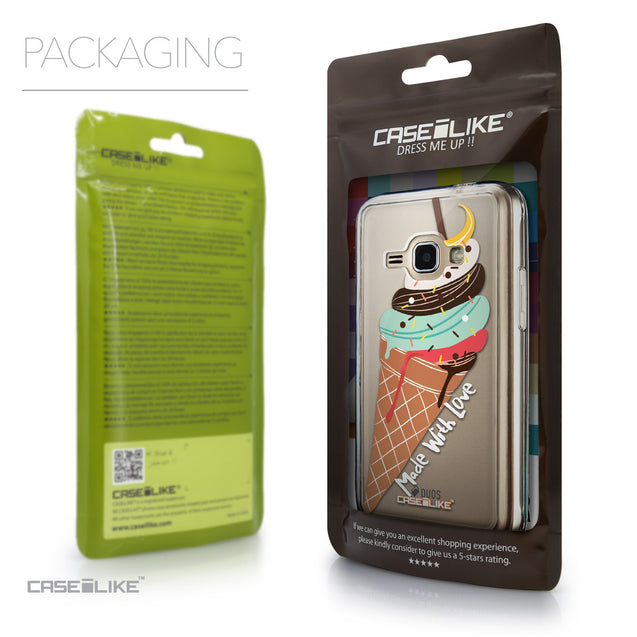 Packaging - CASEiLIKE Samsung Galaxy J1 (2016) back cover Ice Cream 4820