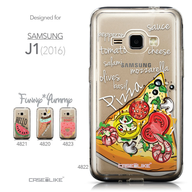 Collection - CASEiLIKE Samsung Galaxy J1 (2016) back cover Pizza 4822