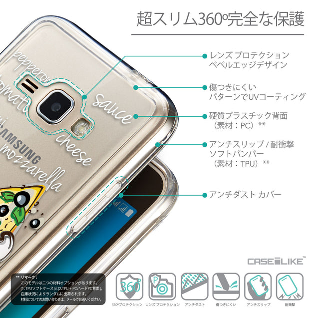 Details in Japanese - CASEiLIKE Samsung Galaxy J1 (2016) back cover Pizza 4822