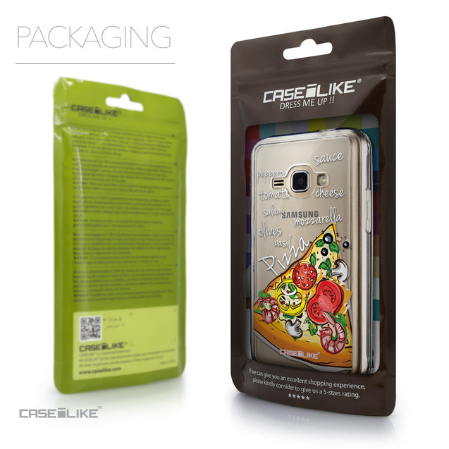 Packaging - CASEiLIKE Samsung Galaxy J1 (2016) back cover Pizza 4822