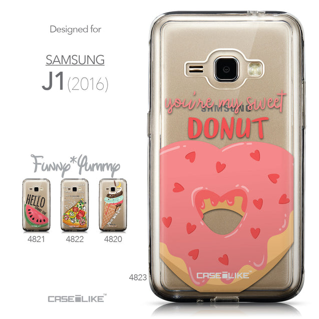 Collection - CASEiLIKE Samsung Galaxy J1 (2016) back cover Dounuts 4823