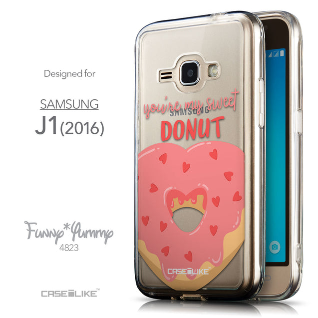Front & Side View - CASEiLIKE Samsung Galaxy J1 (2016) back cover Dounuts 4823