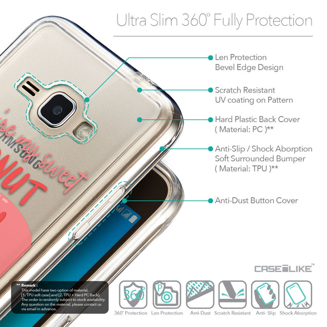 Details in English - CASEiLIKE Samsung Galaxy J1 (2016) back cover Dounuts 4823