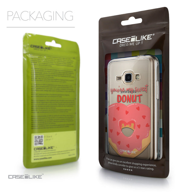Packaging - CASEiLIKE Samsung Galaxy J1 (2016) back cover Dounuts 4823