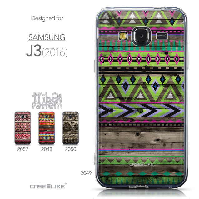 Collection - CASEiLIKE Samsung Galaxy J3 (2016) back cover Indian Tribal Theme Pattern 2049