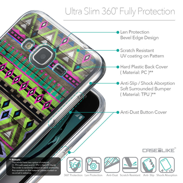 Details in English - CASEiLIKE Samsung Galaxy J3 (2016) back cover Indian Tribal Theme Pattern 2049