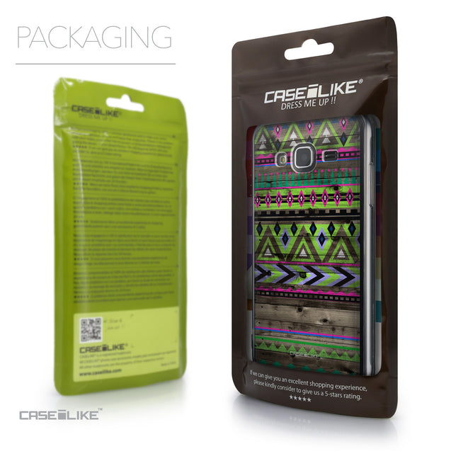 Packaging - CASEiLIKE Samsung Galaxy J3 (2016) back cover Indian Tribal Theme Pattern 2049