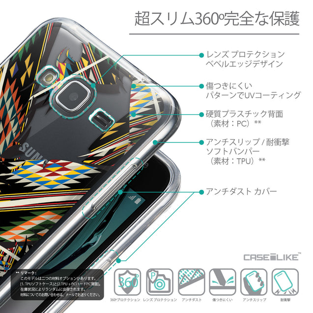 Details in Japanese - CASEiLIKE Samsung Galaxy J3 (2016) back cover Indian Tribal Theme Pattern 2053