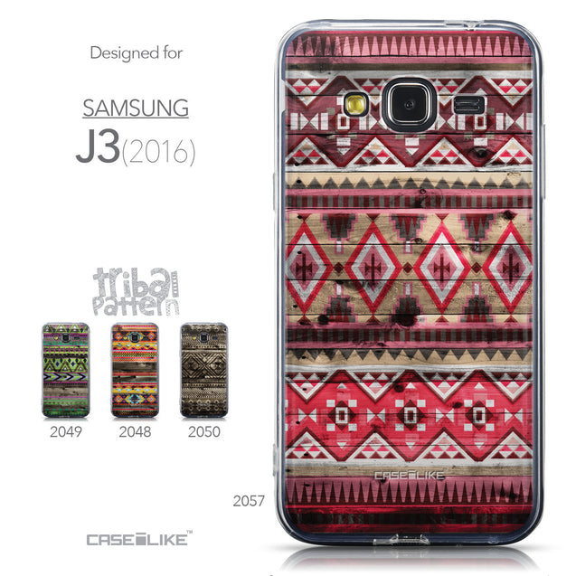 Collection - CASEiLIKE Samsung Galaxy J3 (2016) back cover Indian Tribal Theme Pattern 2057