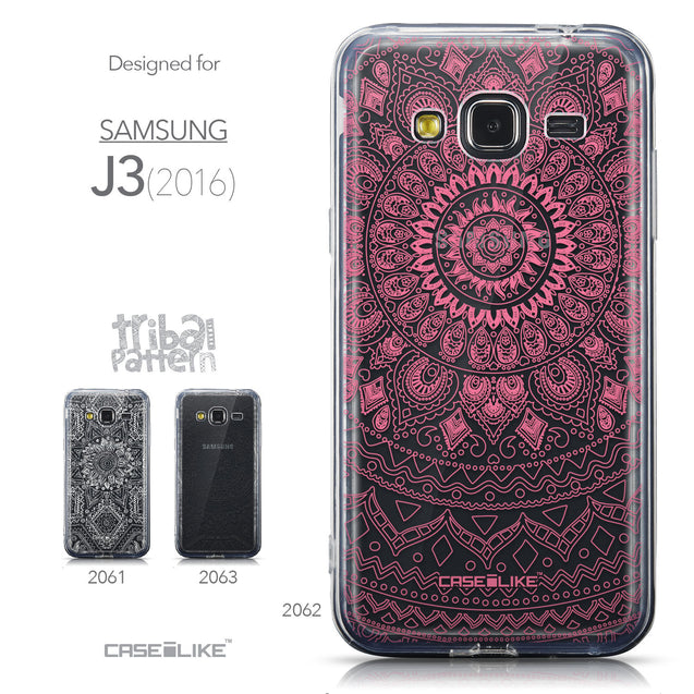 Collection - CASEiLIKE Samsung Galaxy J3 (2016) back cover Indian Line Art 2062