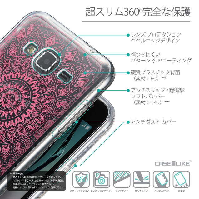 Details in Japanese - CASEiLIKE Samsung Galaxy J3 (2016) back cover Indian Line Art 2062