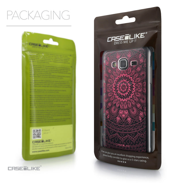 Packaging - CASEiLIKE Samsung Galaxy J3 (2016) back cover Indian Line Art 2062