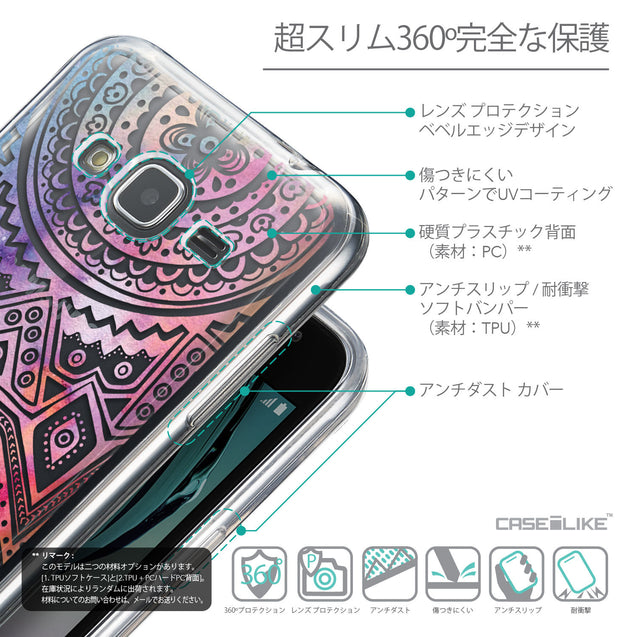 Details in Japanese - CASEiLIKE Samsung Galaxy J3 (2016) back cover Indian Line Art 2065