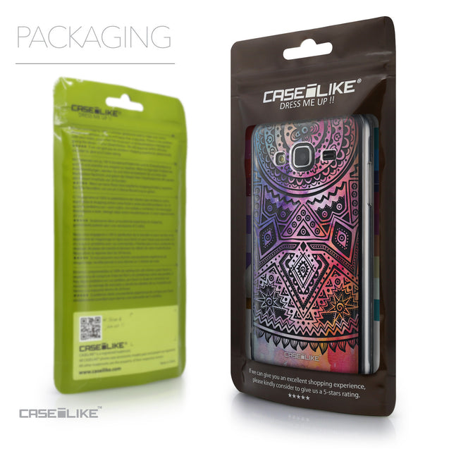 Packaging - CASEiLIKE Samsung Galaxy J3 (2016) back cover Indian Line Art 2065