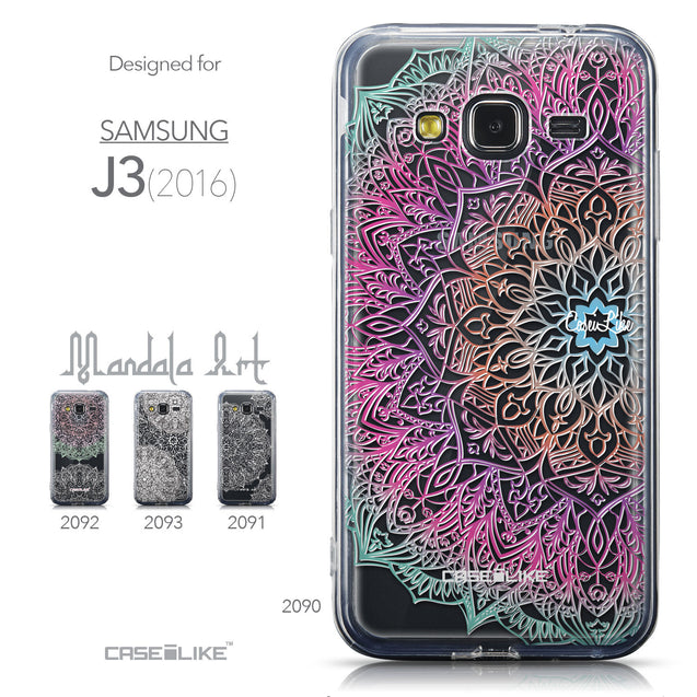 Collection - CASEiLIKE Samsung Galaxy J3 (2016) back cover Mandala Art 2090