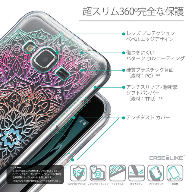 Details in Japanese - CASEiLIKE Samsung Galaxy J3 (2016) back cover Mandala Art 2090