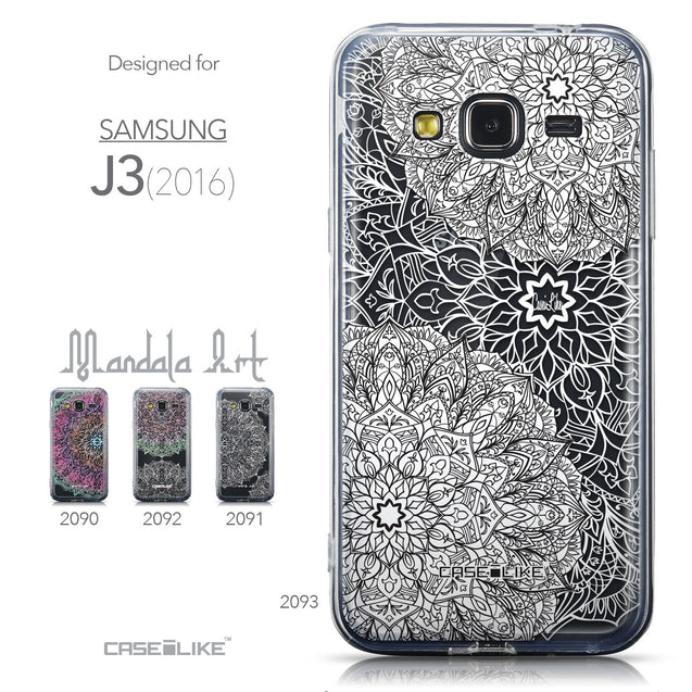 Collection - CASEiLIKE Samsung Galaxy J3 (2016) back cover Mandala Art 2093