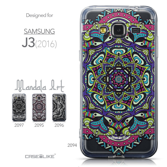 Collection - CASEiLIKE Samsung Galaxy J3 (2016) back cover Mandala Art 2094