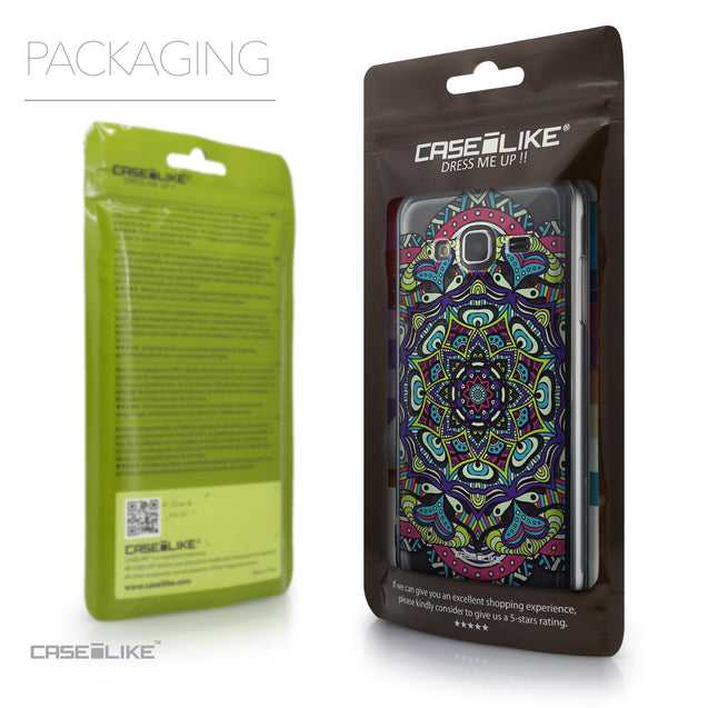 Packaging - CASEiLIKE Samsung Galaxy J3 (2016) back cover Mandala Art 2094