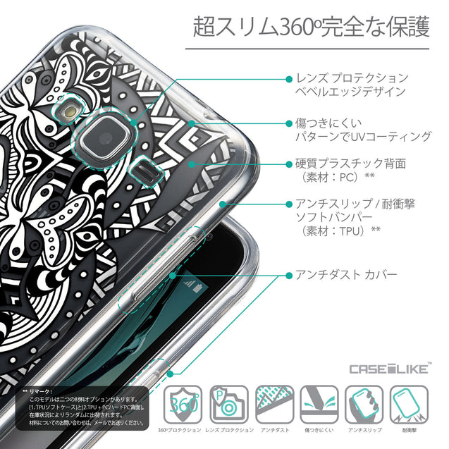 Details in Japanese - CASEiLIKE Samsung Galaxy J3 (2016) back cover Mandala Art 2096