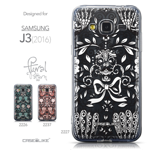 Collection - CASEiLIKE Samsung Galaxy J3 (2016) back cover Roses Ornamental Skulls Peacocks 2227