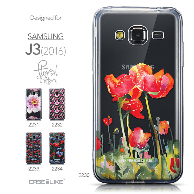Collection - CASEiLIKE Samsung Galaxy J3 (2016) back cover Watercolor Floral 2230