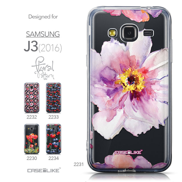 Collection - CASEiLIKE Samsung Galaxy J3 (2016) back cover Watercolor Floral 2231
