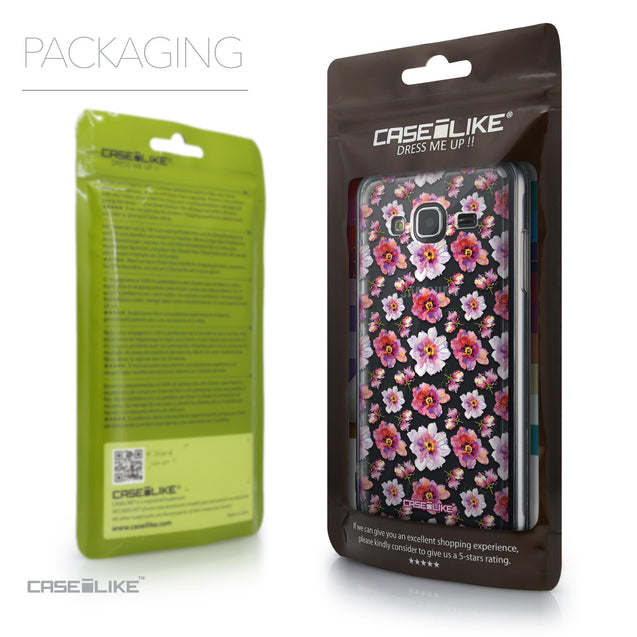 Packaging - CASEiLIKE Samsung Galaxy J3 (2016) back cover Watercolor Floral 2232