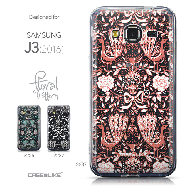 Collection - CASEiLIKE Samsung Galaxy J3 (2016) back cover Roses Ornamental Skulls Peacocks 2237