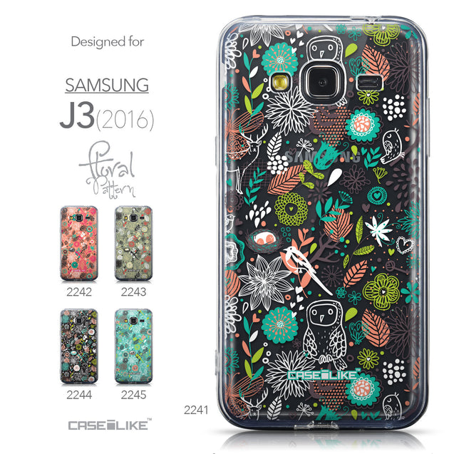 Collection - CASEiLIKE Samsung Galaxy J3 (2016) back cover Spring Forest White 2241