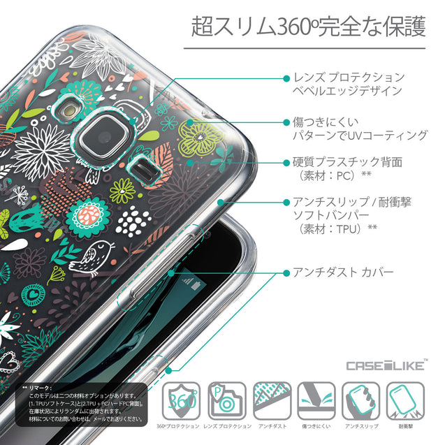 Details in Japanese - CASEiLIKE Samsung Galaxy J3 (2016) back cover Spring Forest White 2241