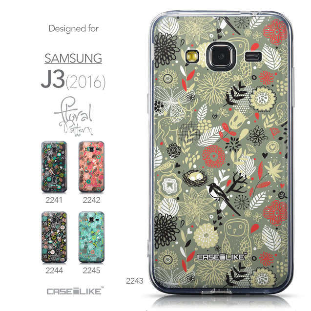 Collection - CASEiLIKE Samsung Galaxy J3 (2016) back cover Spring Forest Gray 2243