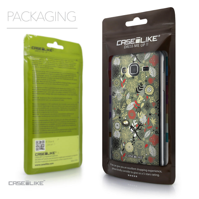 Packaging - CASEiLIKE Samsung Galaxy J3 (2016) back cover Spring Forest Gray 2243