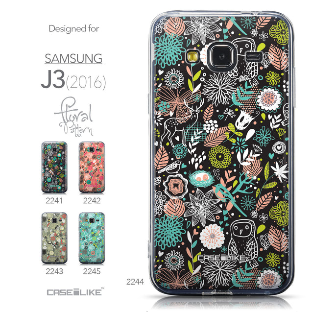 Collection - CASEiLIKE Samsung Galaxy J3 (2016) back cover Spring Forest Black 2244