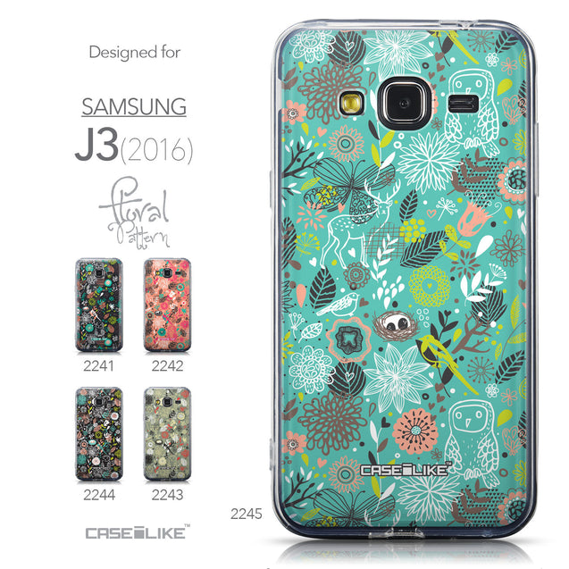 Collection - CASEiLIKE Samsung Galaxy J3 (2016) back cover Spring Forest Turquoise 2245