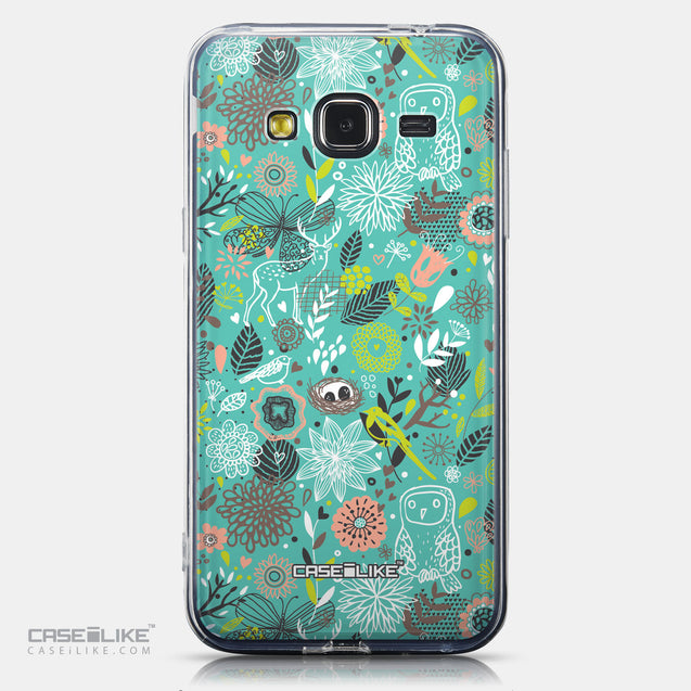 CASEiLIKE Samsung Galaxy J3 (2016) back cover Spring Forest Turquoise 2245