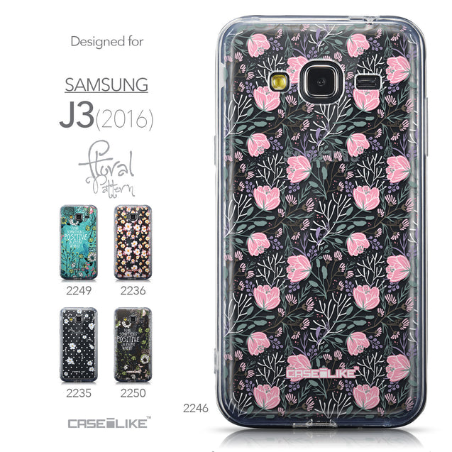 Collection - CASEiLIKE Samsung Galaxy J3 (2016) back cover Flowers Herbs 2246