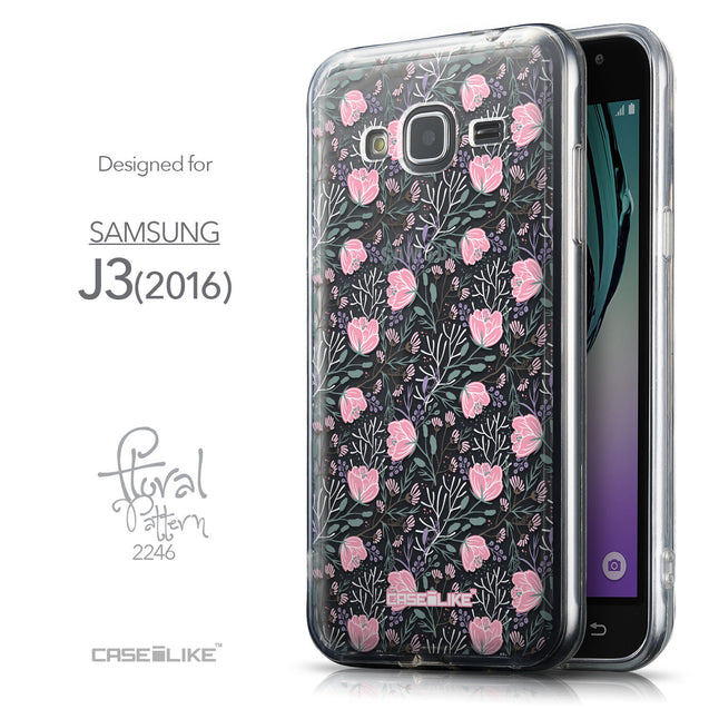 Front & Side View - CASEiLIKE Samsung Galaxy J3 (2016) back cover Flowers Herbs 2246