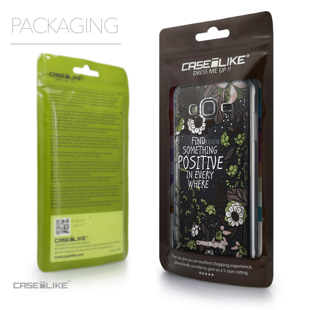 Packaging - CASEiLIKE Samsung Galaxy J3 (2016) back cover Blooming Flowers 2250