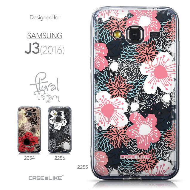 Collection - CASEiLIKE Samsung Galaxy J3 (2016) back cover Japanese Floral 2255