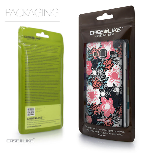 Packaging - CASEiLIKE Samsung Galaxy J3 (2016) back cover Japanese Floral 2255