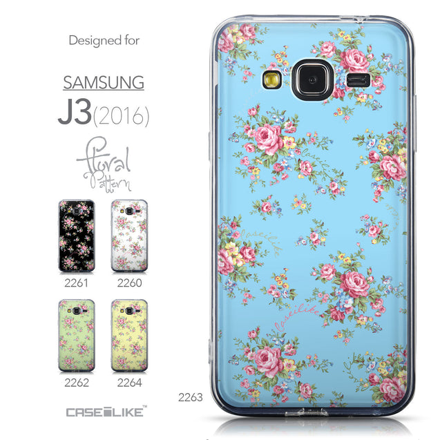 Collection - CASEiLIKE Samsung Galaxy J3 (2016) back cover Floral Rose Classic 2263
