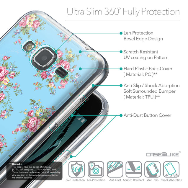 Details in English - CASEiLIKE Samsung Galaxy J3 (2016) back cover Floral Rose Classic 2263